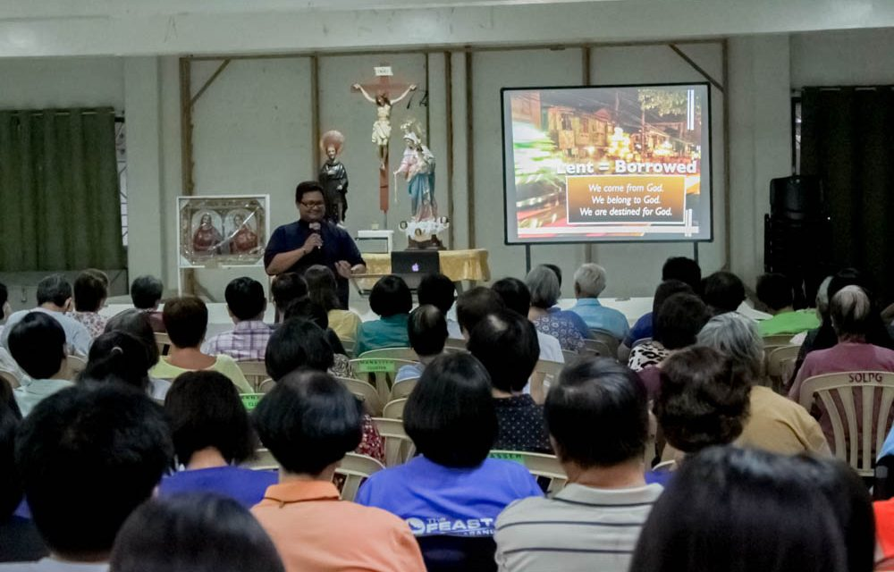 Lenten Recollection Held March 10 at the Parish Hall